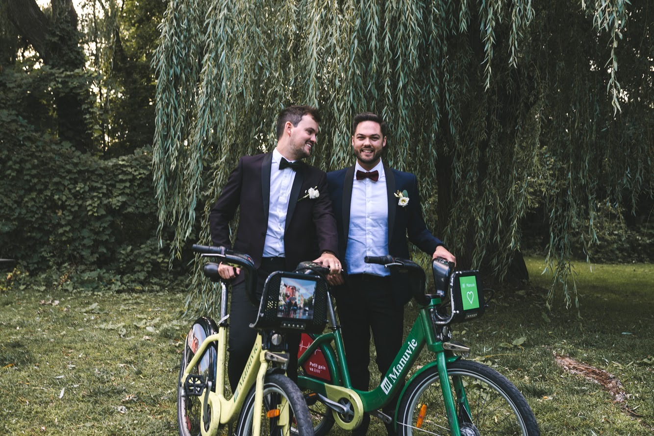Charles et Gabriel - nouveaux mariés. Crédit : Krystel Mackinnon