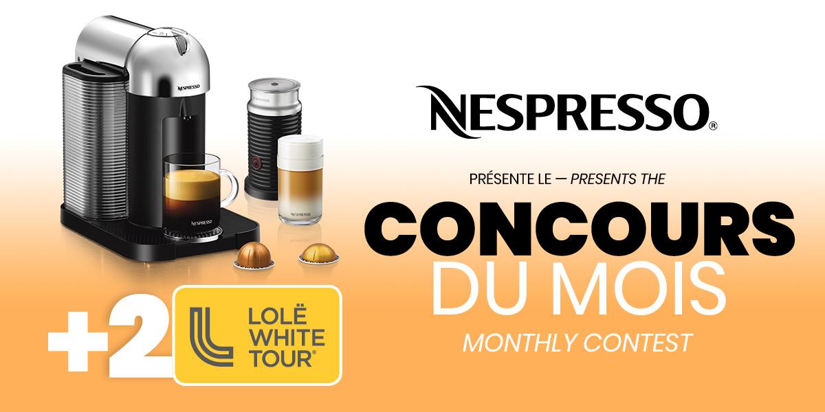 Concours Nespresso - BIXI Juillet 2019