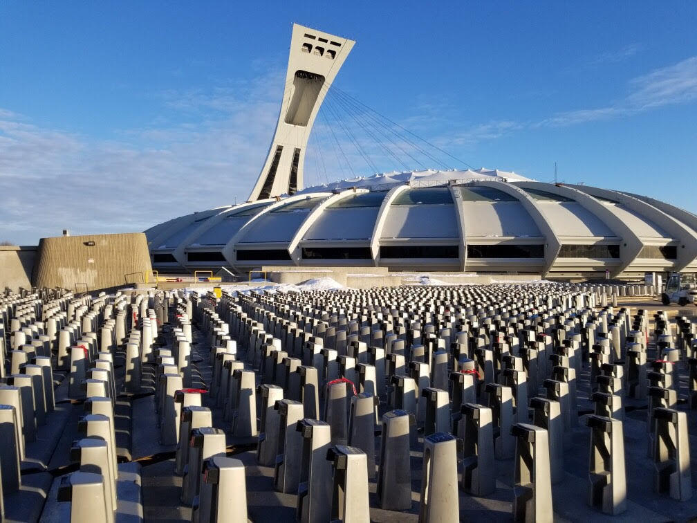 Les stations au Stade olympique
